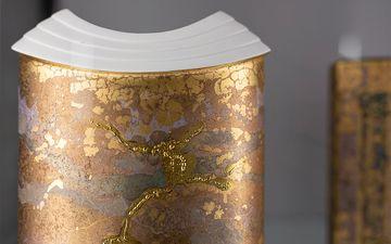 Vase mit Unikat-Dekor, Form James Kirkwood, Modellnummer 3599, Rosenthal AG, 1988, ©Porzellanikon, Foto: Andreas Gießler