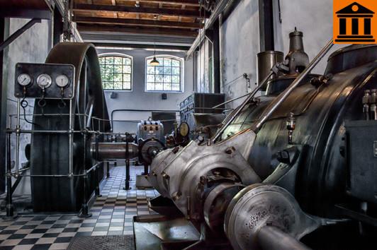 Unsere große Dampfmaschine im Porzellanikon Selb. ©Porzellanikon