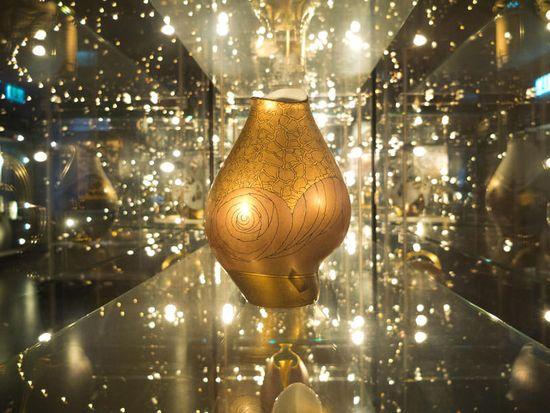 """Vase in der Ausstellung """"Glanzlichter"""""""