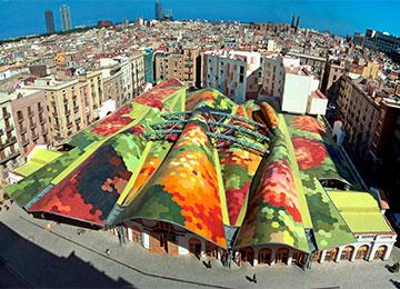 Dach der Markthalle Santa Caterina in Valencia, 2004 © Cerámica Cumella